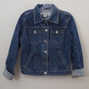 3/$20 Express Bleus Jean Jacket Dark Wash Denim